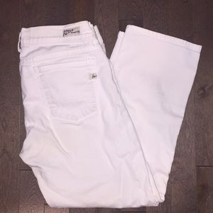 Citizens Of Humanity White Kelly Crop Jean